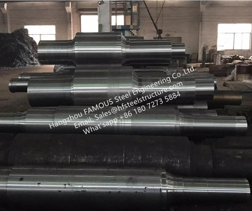Casting/Forged Steel Mill Work Rolls Backup Roller Manufacturing China Factory For Hot Rolled Metal Sheet And Billet Mill Usage