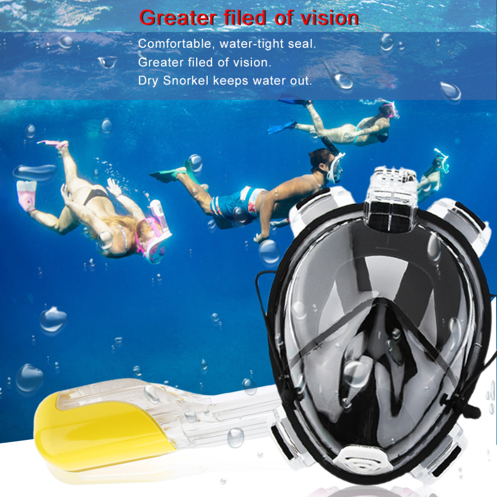 ФОТО Professional Adult Full Face Diving Mask Comfortable Waterproof Underwater Diving Mask Anti Fog Full Face Diving Mask New Style