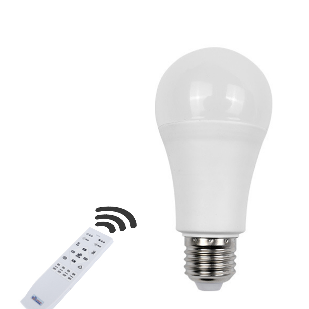 LEDGLE Smart LED Bulb E27 Lamp Bulb Efficient Light Bulbs with Wireless Remote Control, Wide Beam Angle, 900lm keyshare dual bulb night vision led light kit for remote control drones