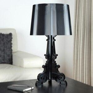 Image 2 - Lampe de chevet en acrylique transparente, 20 pouces, à haut Accent, éclairage LED, Table de chevet, pour chambre à coucher, salon, prise US et ue E27