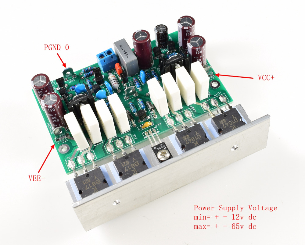 LJM-Audio Hallo-end L20 200 W 8R Audio Stero Power Verstärker Bord mit Winkel aluminium (Montiert amp bord, enthalten 2 bobards)