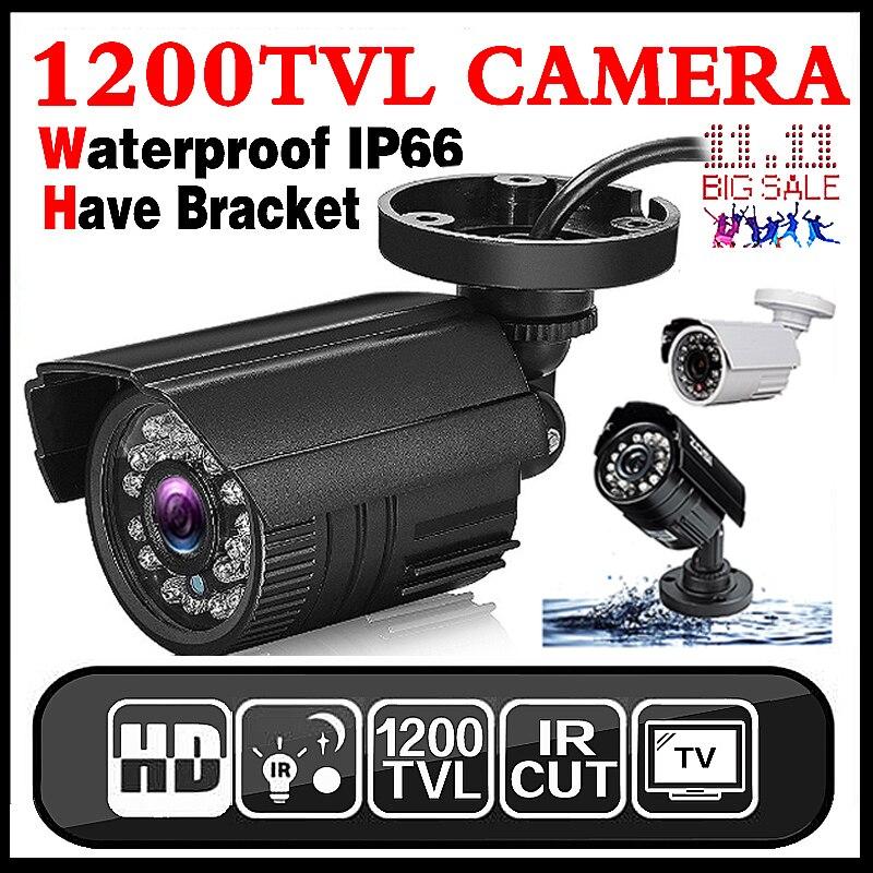 11.11Hot Verkauf Echt 1200TVL Mini Analog HD Cctv-kamera Im Freien Wasserdichte IP66 24led IR-CUT infrarot Sicherheit Surveillanc Vidicon
