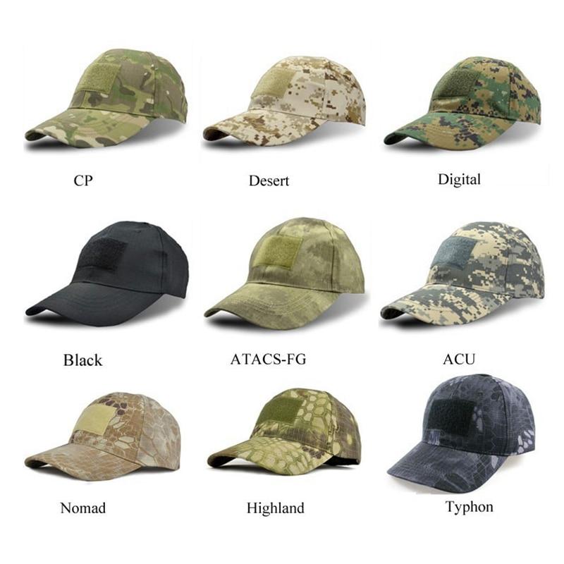 높은 품질 정글 카 모 바이오닉 Snapback 모자 하이킹 모자 남성 여성을위한 전술 조정 가능한 스포츠 전술 캡