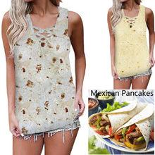 140183242b24b TELOTUNY femmes Blouse Polyester 2019 mode femmes été grande taille mexicain  crêpes T-Shirt sans