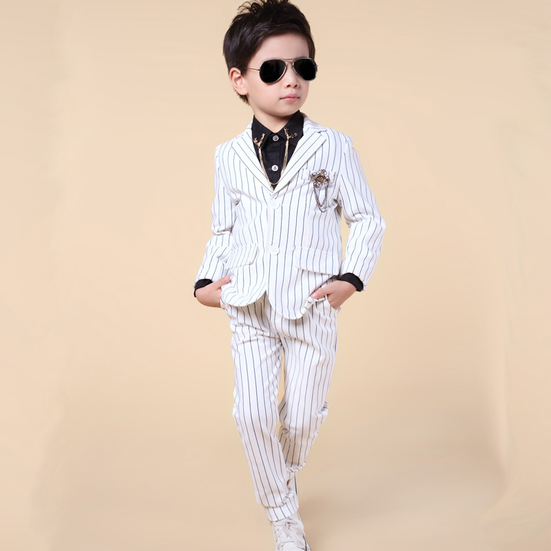 цена Fashion Two-piece baby boys casual blazers jacket boys suits for weddings formal flower boy clothing child kids prom suit