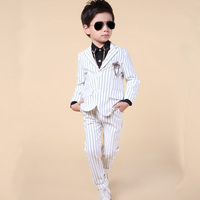 Fashion Two piece baby boys casual blazers jacket boys suits for weddings formal flower boy clothing child kids prom suit