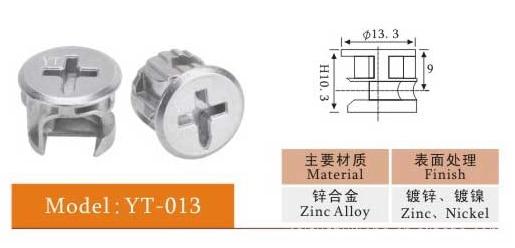 Mix 100000pcs 3kinds High Quality Zinc And Gold Eccentric Parts, Furniture Accessories