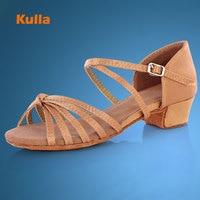 KULLA Ballroom Salsa Tango Latin Dance Shoes Low Heels Dancing For Kids Girls Children Women Ladies