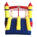 Yard casa do salto castelo inflável slide bouncer inflável com ventilador