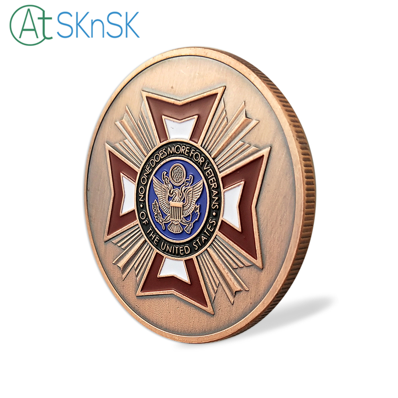 50/100pcs U.S. Army Souvenir Coin No One Does More For Veterans Military Challenge Coins Collectible Gifts Air Force USMC Coin
