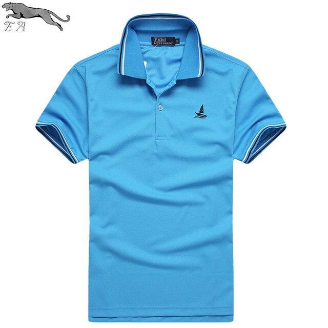 EA Marca 2016 Nuevo Verano de Color Pure Fashion Slim Fit Hombres Camisa de Polo de Manga Corta Solid Casual Cozy Camisa de Polo de ropa al por mayor