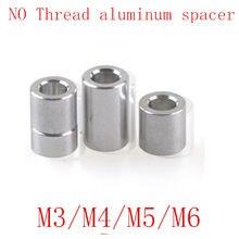 10 adet M3 M4 M5 M6 m8 m10 alüminyum yıkayıcı yuvarlak içi boş hiçbir iplik ayırıcı kalınlığı 2/3/4/5/6/8/10/12mm
