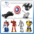 Piece Fun 3D Laser Cut DIY Assembly Models Metal Puzzle Avengers batman Iron Man Bumblebee Shield Adult kids educational toy