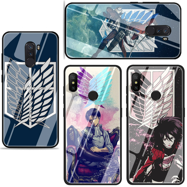 Attack On Titan Tempered Glass Phone Case for Xiaomi Phones