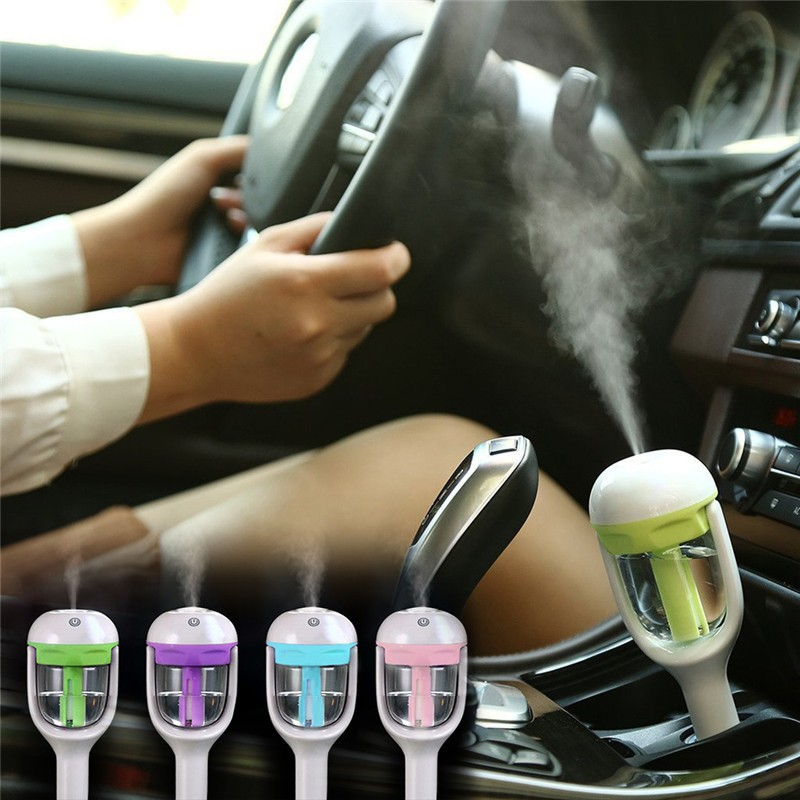 12V Car Humidifier Air Purifier Steam Aroma Diffuser Essential oil diffuser Aromatherapy Mist Maker Fogger image