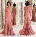 2016 Mãe dos Vestidos de Noiva Com Mangas Elegante Para O Casamento De Festa À Noite Vestidos de Mulheres Formais Vestido vestido De Madrinha