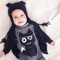 Macacão de bebê Gato Dos Desenhos Animados Impresso Do Bebê Da Menina do Menino Macacão de Manga Longa Para Bebê Recém-nascido Corpo Se Adapte Às Crianças Roupas