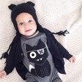 Mamelucos del bebé Gato de la Historieta Impresa Bebé, Niña, Niño Mono de Manga Larga Para Niño Recién Nacido Niños Body Suits Ropa