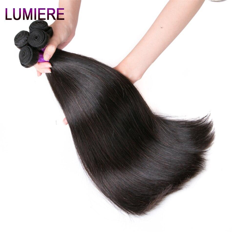 Lumiere Hair Perui taisni matu pieaudzēšanas līdzekļi Remy Hair - Cilvēka mati (melnā krāsā) - Foto 5