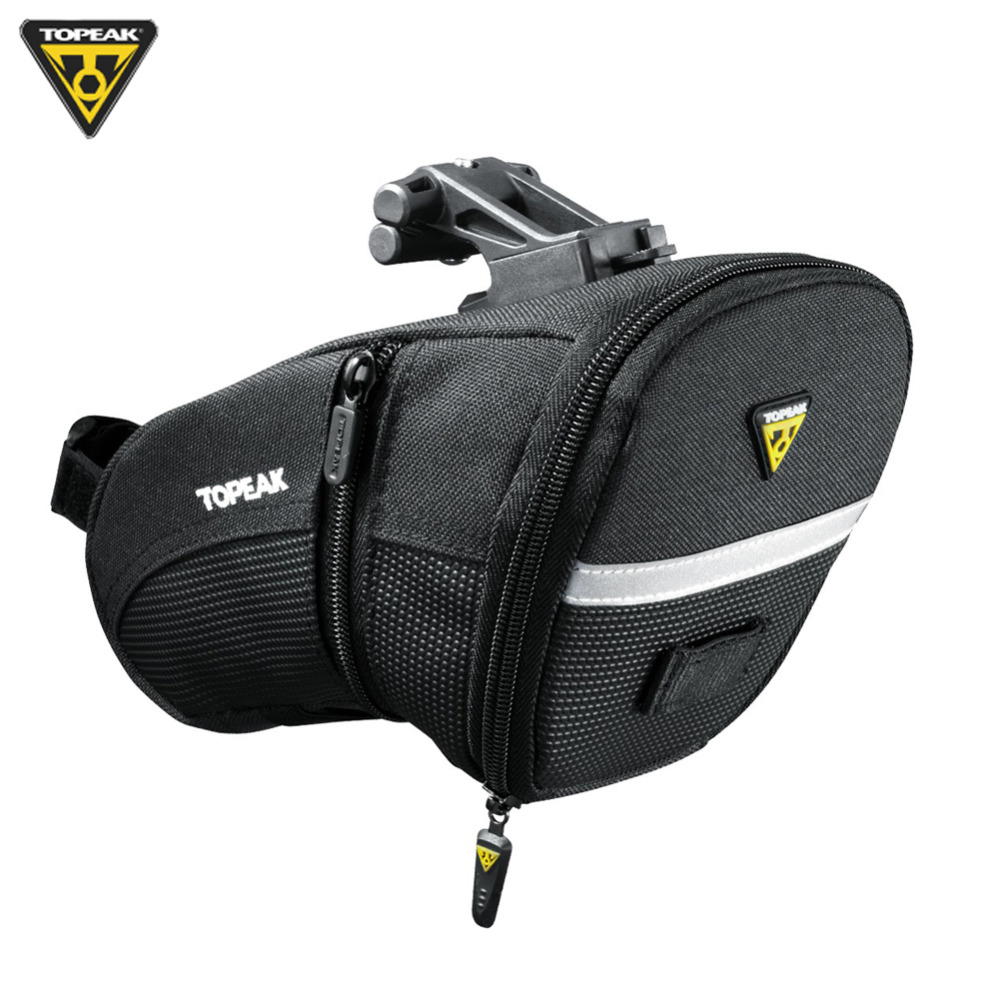 Black Topeak Survival Wedge Pack II Seat Bag with Tool Kit  and Mount