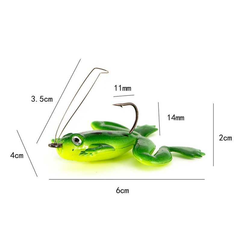 낚시 유혹 인공 소프트 실리콘 낚시 개구리는 잉어 낚시 태클 wobblers 민물 바닷물 낚시 미끼를 유혹