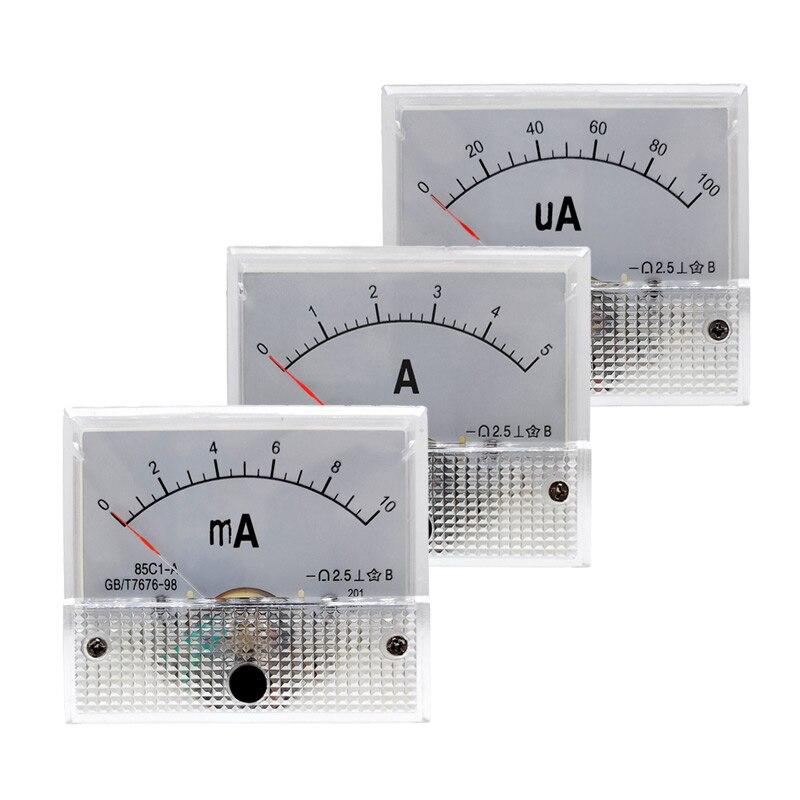 85c1 Amperemeter Dc Analog Current Meter Panel Mechanische Zeiger Typ 1/5/10/20/30/ 50/100/200/300/500ma Ein Elegant Und Anmutig