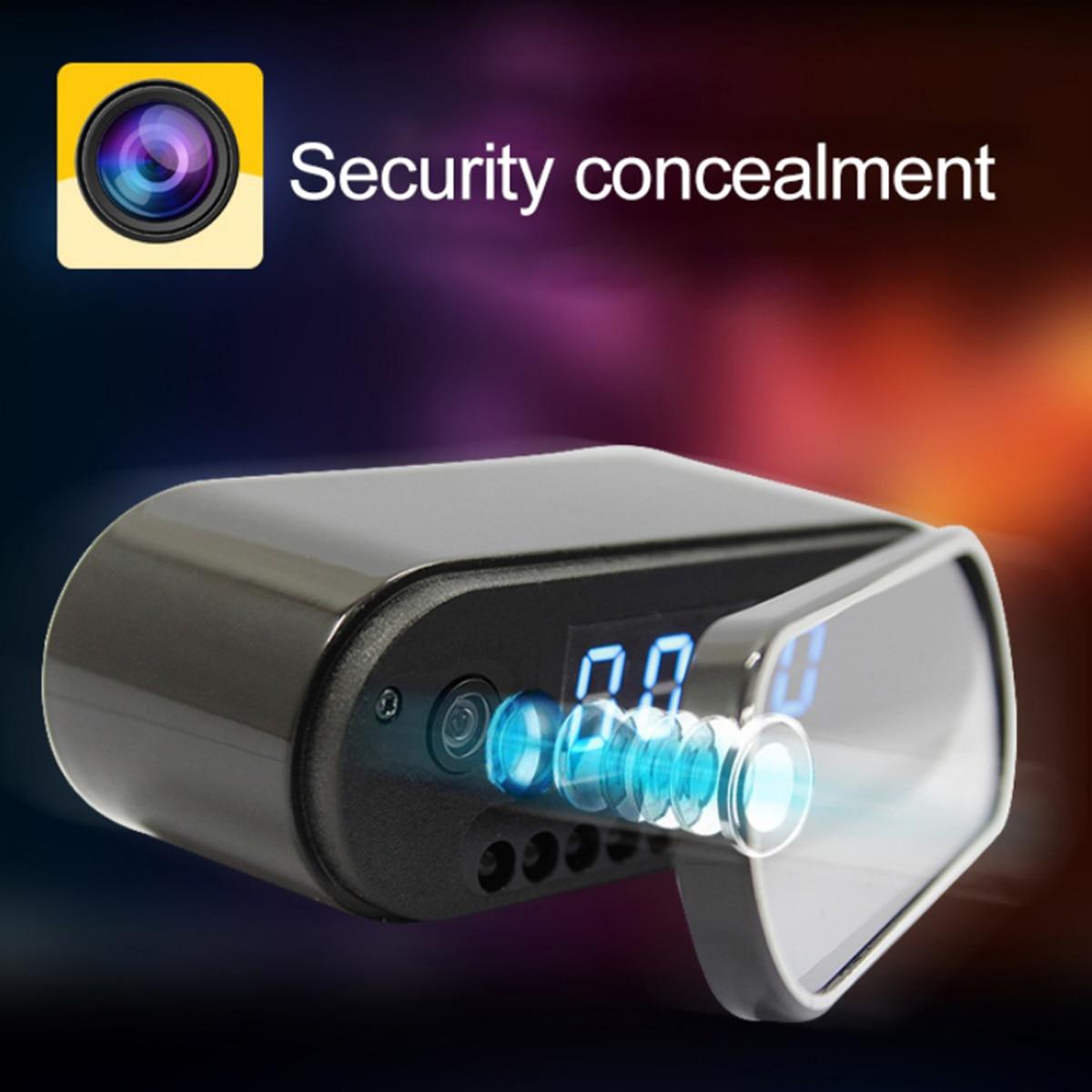 Image 4 - New 1080P HD Clock Camera WIFI Control Concealed IR Night View  Alarm Camcorder PK Z16 Digital Clock Video Camera Mini DV DVRMini  Camcorders