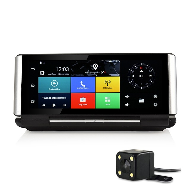 7 Touch 3G Android 5 0 GPS Navigation Car dvr Camera Rear view camera Dual lens