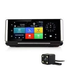 """7 """"сенсорный 3G Android 5.0 GPS навигация автомобильный видеорегистратор Камера заднего вида Камера два объектива Регистраторы Bluetooth AVIN WI-FI 1 г + 16 ГБ бесплатная карта"""