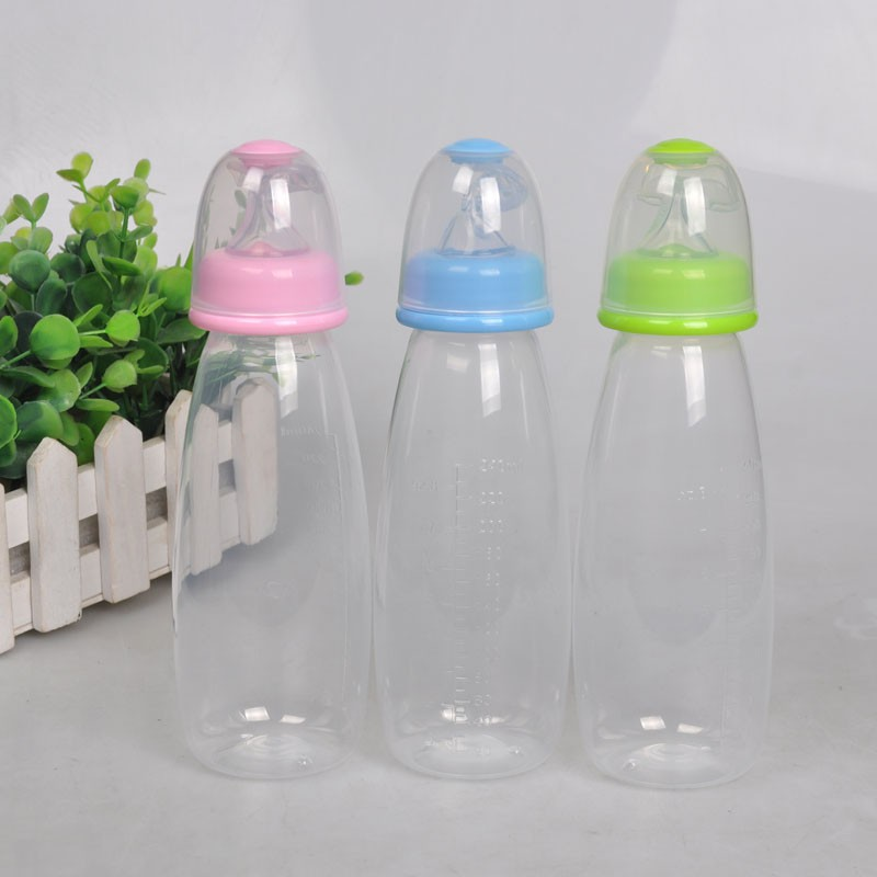 Baby Anti-Fragmentation Paste Silicone Rice Spoon Cap Bottle Baby Bottle Extrusion Feeding Safe Care 240ML