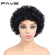 FAVE Hair New Arrival Short Afro Curly Wigs Brazilian