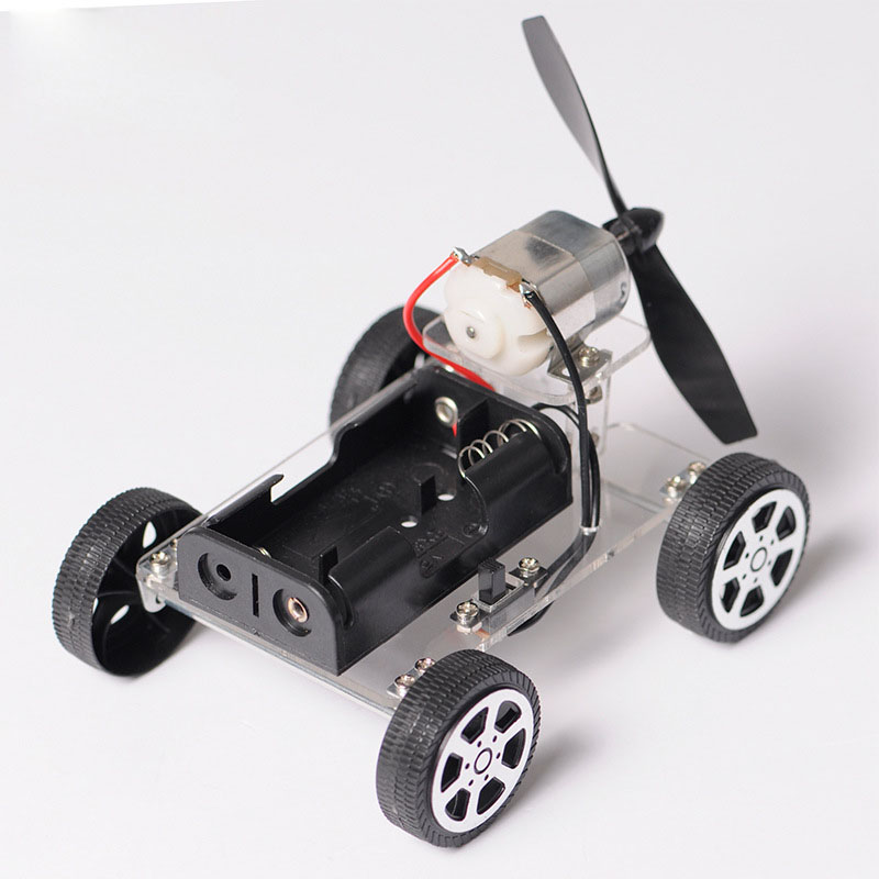 DIY mini wind Power small car Science technology make Small ...
