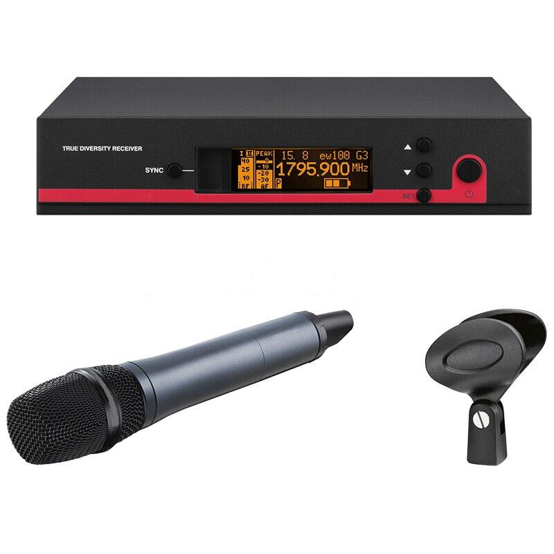 EW135G sistema de micrófono Inalámbrico UHF micrófono Ew100G3 EW135 diversidad verdadera buena calidad trabajo estable sonido claro 1 años de garantía