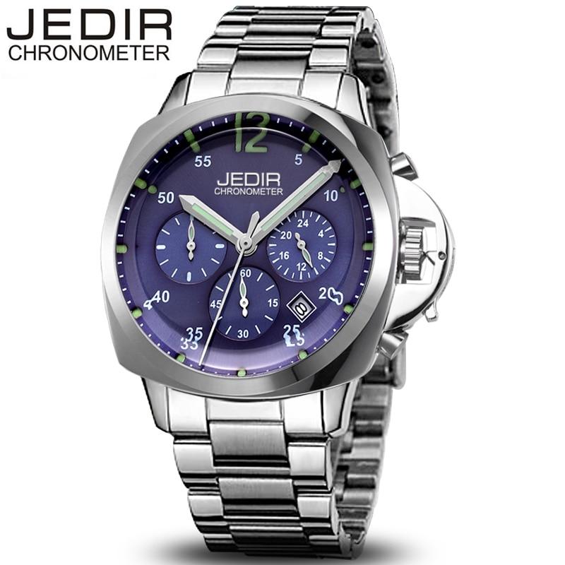 цены на Relogio Masculino JEDIR Mens Watches Top Brand Luxury Business Quartz Watch Men Sports Stainless Steel Waterproof Wristwatch в интернет-магазинах