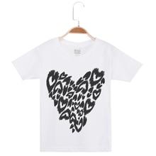 Brand New Child Kids Boy Short Sleeve T-Shirt Tops Casual Cotton Girls Clothes Love Printed O-Neck Fashion Tee Shirt Camiseta