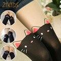 Verão bebê meninas do estilo suave stretchy calças justas para a menina ocasional bonito hello kitty gatos estilo coreano crianças meia-calça crianças marca