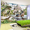 3D Wall Mural Wallpaper Custom Any Size Cartoon Children Wallpaper 3D Stereo Dinosaur World Backdrop Wall Decor Papel De Parede