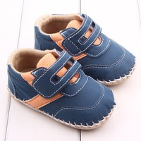 Baby Boys PU Leisure Spring Autumn Shoes First Walkers Anti Skid Newborn Baby Toddler Shoes