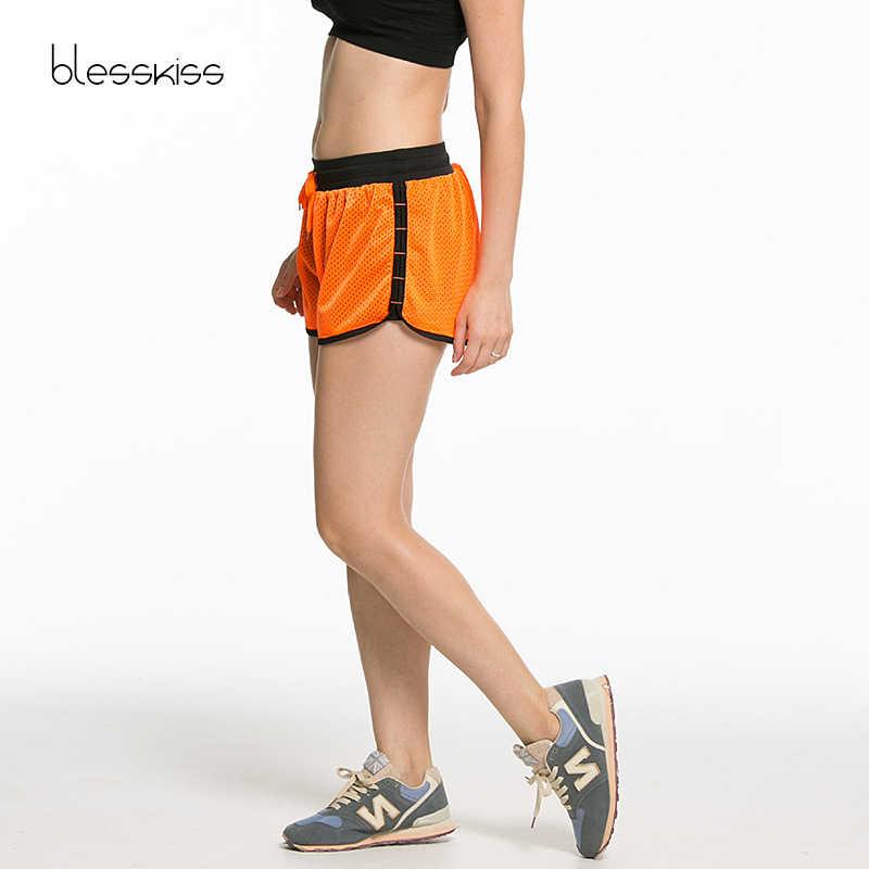 BLESSKISS Neon joga spodenki do biegania kobiety krótkie rajstopy spodenki sportowe na siłownię damskie Fitness odzież dla kobiet lato odzież sportowa