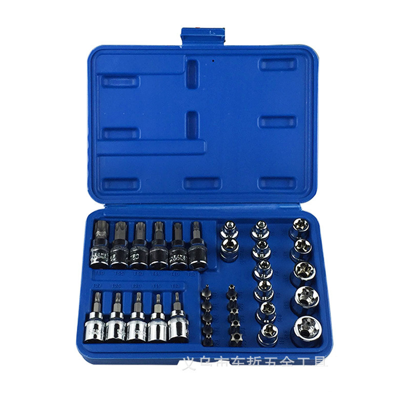 цена на Car Repair Tool 29pcs 1/4 3/8 1/2 Socket Set Car Repair Tool Ratchet Torque Wrench Combo Tools Kit CRV Bright Chrome Socket