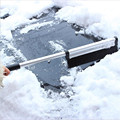 Extendable Telescoping Snow Brush Ice Scraper for Car, Retracts From 65 to 43 cm for Easy Storage - Reaches Entire Windshield