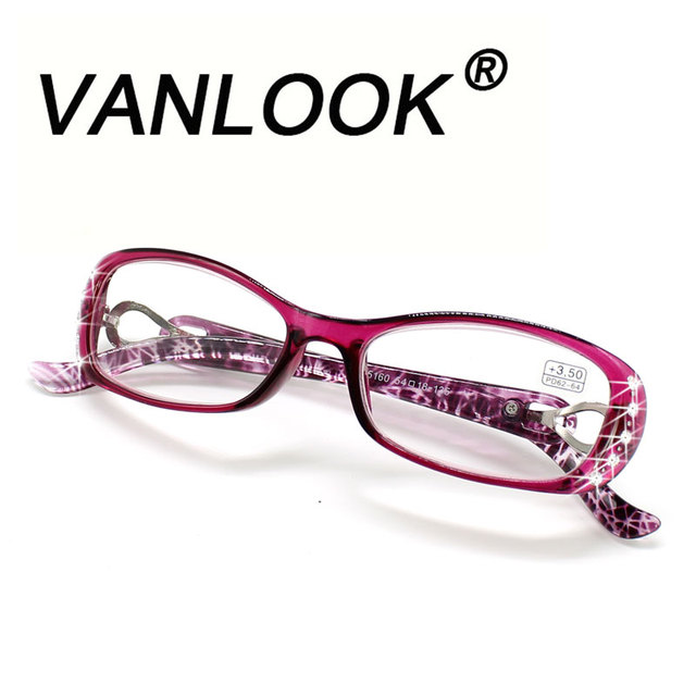 2bee5b54fdb Rhinestone Reading Glasses Women Gafas de Lectura Luxury Fashion Spectacle+100  125 150 175 200 225 250 275 300 350 400 10pcs lot