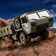 Fayee FY004A 1/16 RC Militaire Truck Radio Machine 6WD Gevolgd Off-Road Crawler RTR Afstandsbediening Auto voor Kinderen 6.19(China)