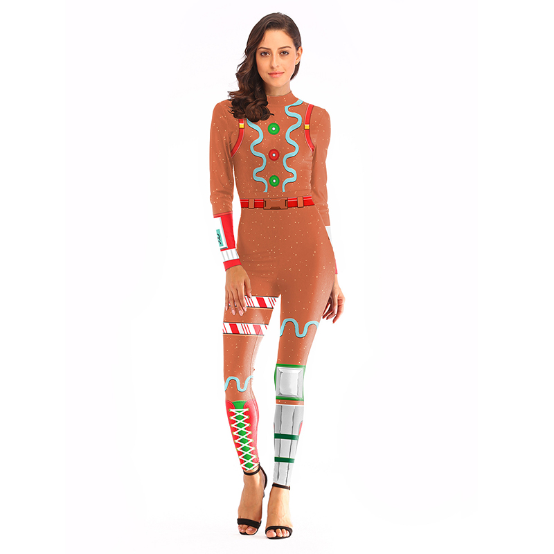 Game Merry Marauder Skin Cosplay Costume Women's  Party Christmas Props Carnival Costumes Gingerbread Costume Fancy Jumpsuits