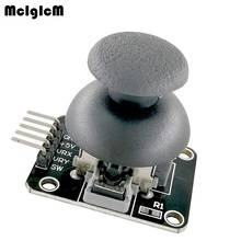 Mcibicm 100 pces módulo de joystick xy de dupla linha central ps2