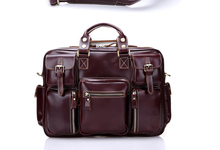 2015 Fashion crazy horse leather travel bag men business travelling bag leather duffle bag luxury leather messenger bag