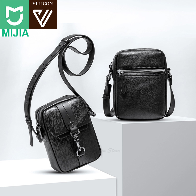 Xiaomi Youpin VLLICON Leather Bag Business Casual Suede Original Leather Shoulder Bag for Men Fashion Bags