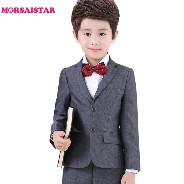 ac027c0ed Boys suits dress wear tuxedo trajes de bodas para blazer nino terno  infantil menino casamento costume mariage jogging gardcon