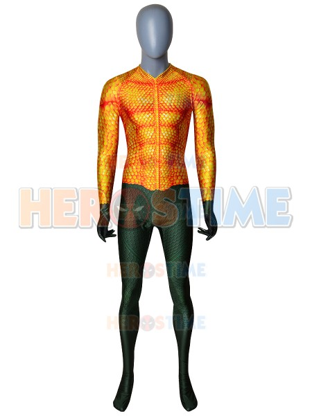 Newest Aquaman Cosplay Costume Aquaman Movie Spandex Zentai Suit Jumpsuit For Adult/Kids Hot Sale Freeshipping