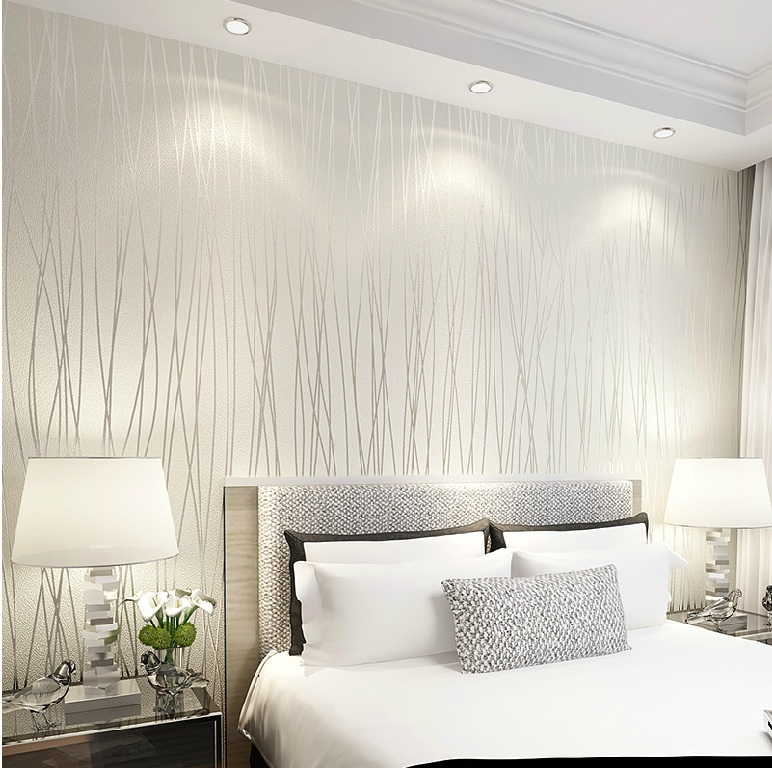 6194 solid color vertical stripe non woven 3d wallpaper for Stanza 3d